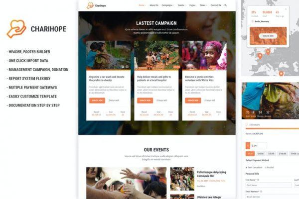 Charihope -  Yardım ve Bağış WordPress Temasısı