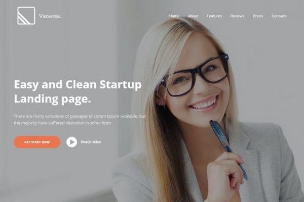 Vanessa -  Başlangıç Açılış Sayfası WordPress Temasısı