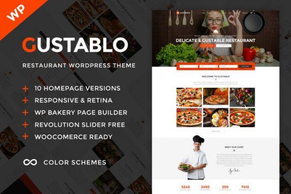 Gustablo - Restaurant & Cafe WordPress Temasısı