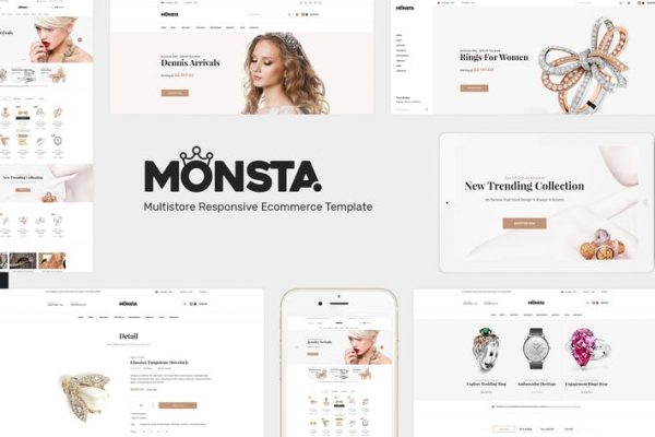 Monsta -  Takı WooCommerce WordPress Temasısı