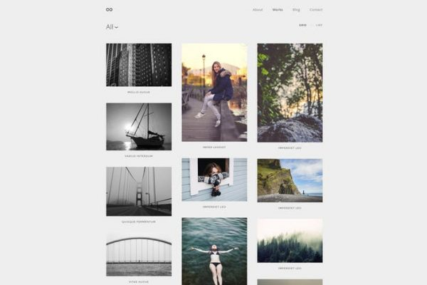 Montenegro - Minimal Fotoğraf WordPress Temasısı