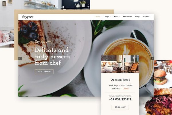 Despero Cafe & Restaurant WordPress  Teması