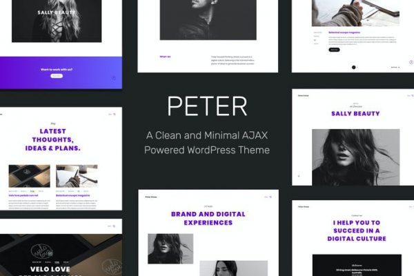 Peter -  Ajax Tabanlı Yaratıcı WordPress Temasısı