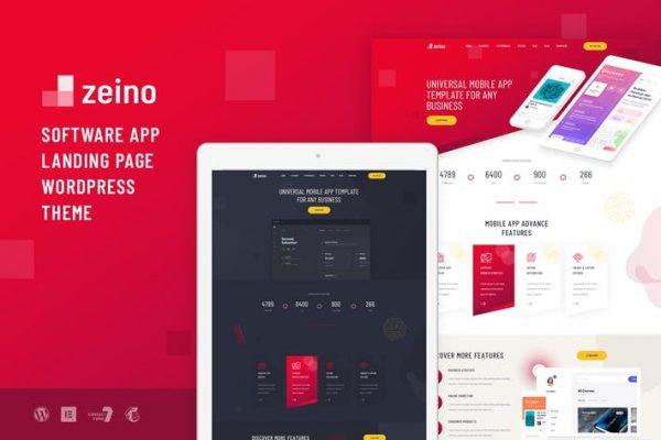 Zeino - Uygulama Açılış WordPress Temasısı