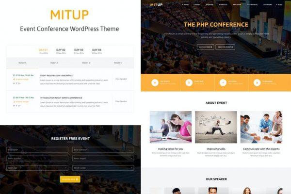 MitUp - Etkinlik ve Konferans WordPress Temasısı