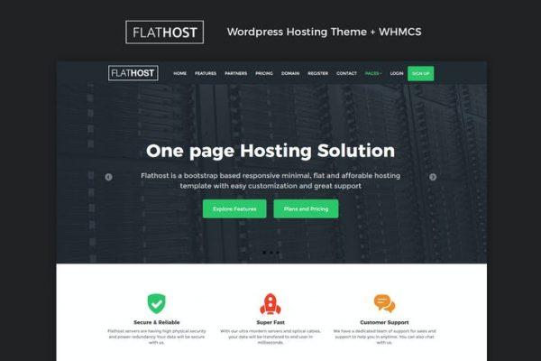 FlatHost WordPress Hosting + WHMCS Teması