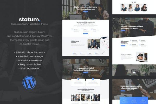 Statum - İş ve Ajans WordPress Temasısı