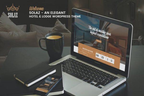 Solaz -  Zarif Bir Otel ve Konaklama WordPress Temasısı