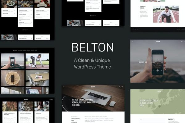 Belton - Minimal Çok Amaçlı WordPress Temasısı