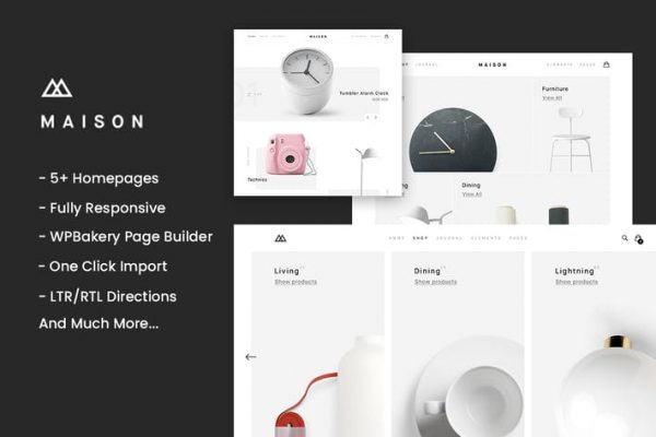 Maison - Minimalist e-Ticaret WordPress Temasısı
