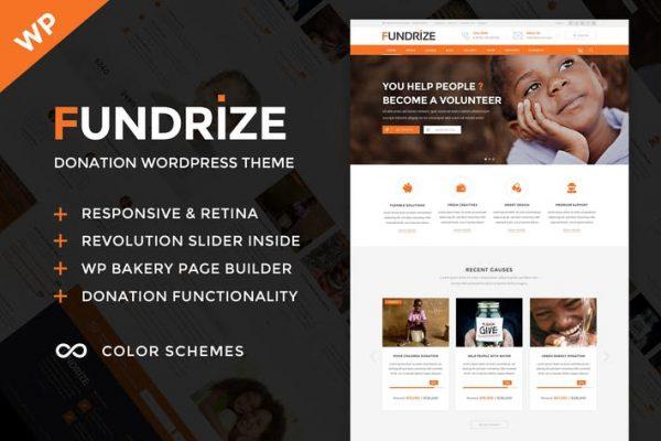 Fundrize -  Bağış ve Yardım WordPress Temasısı