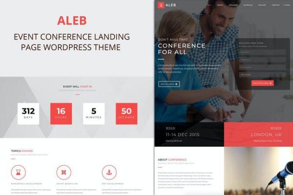 Aleb -  Etkinlik Konferansı Sayfa İçi WordPress Temasısı