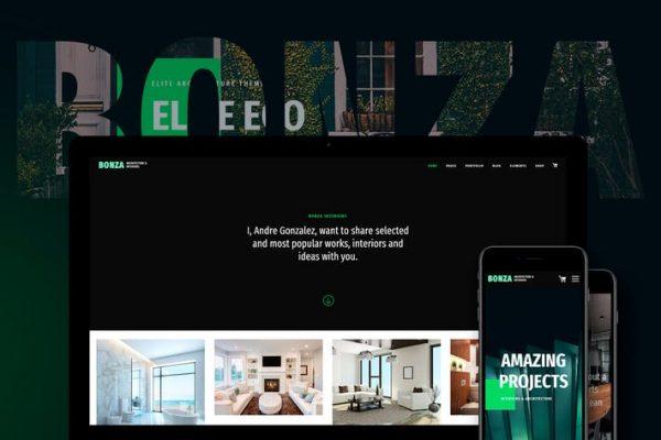 Bonza Architecture & Interior WordPress  Teması