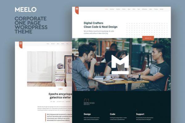 Meelo - Kurumsal Bir Sayfa WordPress Temasısı