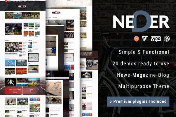Neder -  WordPress Haber Dergisi ve Blog Temasısı