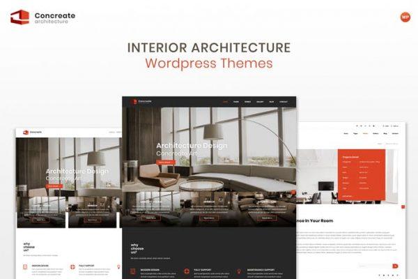 Concreate - İç Mimarlık WordPress Temasısı