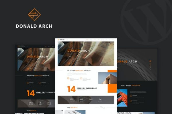 Donald Arch - Yaratıcı Mimari WordPress Onları