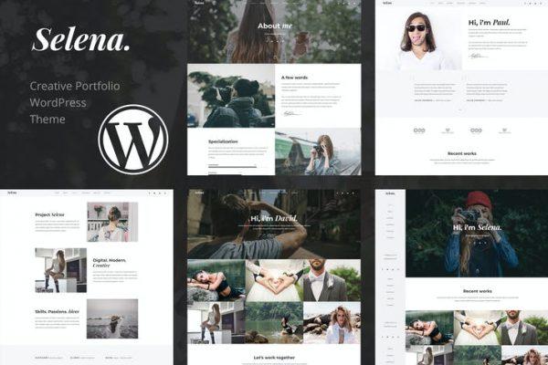 Selena. - Portföy WordPress Temasısı
