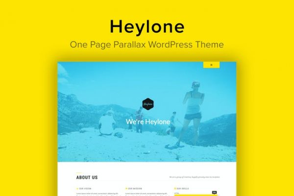 Heylone -  Bir Sayfa Paralaks WordPress Temasısı