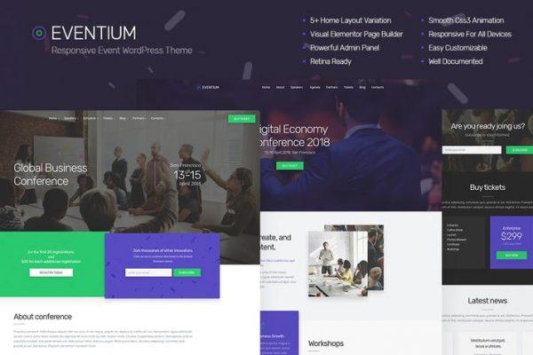Eventium - Duyarlı Etkinlik WordPress Temasısı