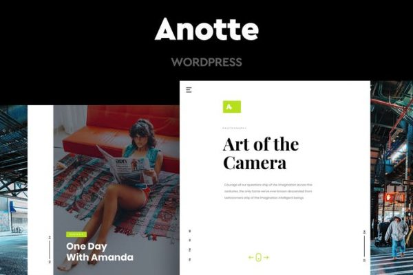 Anotte -  Yatay Fotoğrafçılık WordPress Temasısı