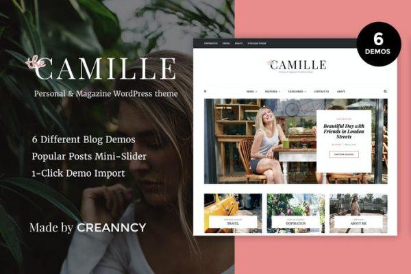 Camille - Kişisel ve Dergi WordPress Blog Temasısı