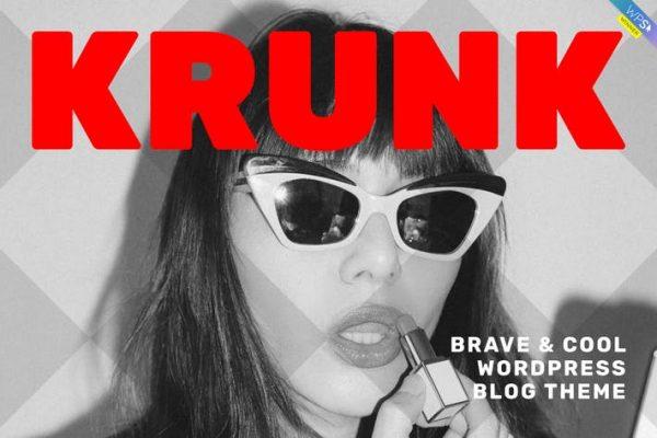 Krunk - Cesur ve Havalı WordPress Blog Temasısı