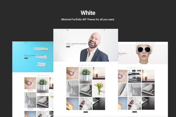 White -  Minimal Portföy WordPress Temasısı
