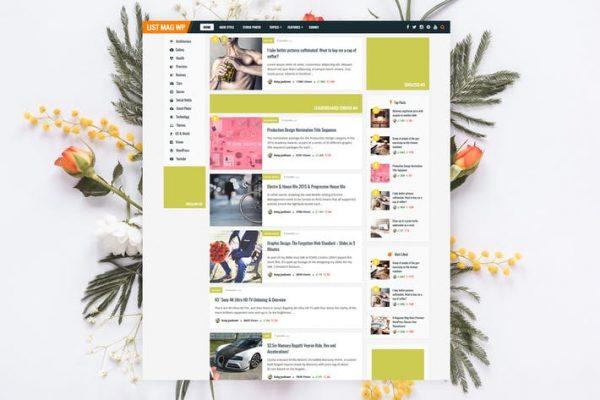 List Mag WP -  Kişisel Haberler / Dergi Temasısı