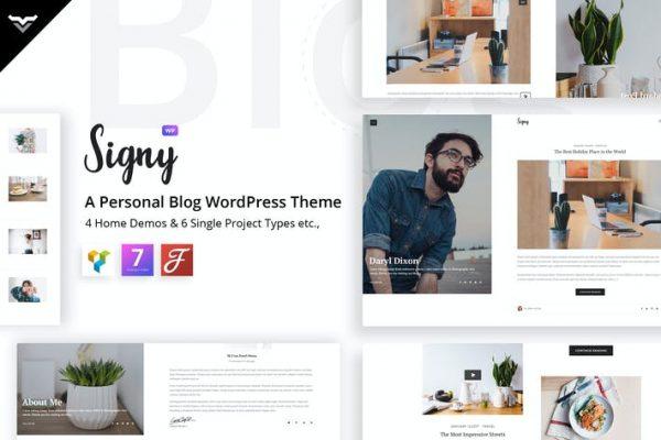 Signy - Kişisel Blog WordPress Temasısı