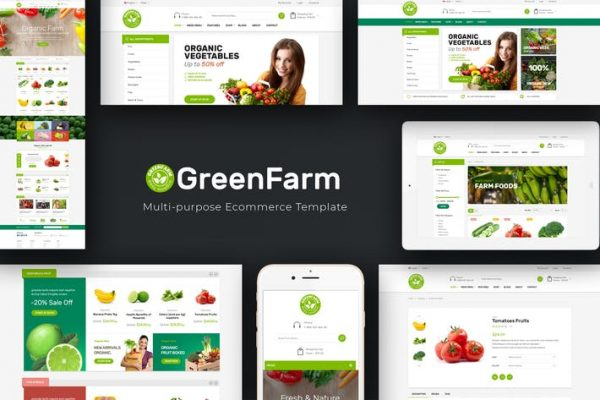 Greenfarm -  Organik WooCommerce WordPress Temasısı