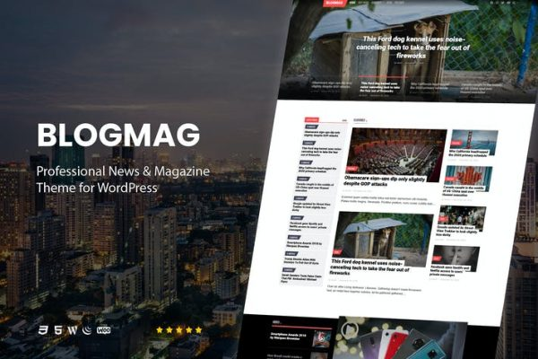 BlogMag -  WordPres için Profesyonel Dergi Temasısı