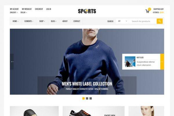 Sport Shop -  Sporting Club RTL WooCommerce Temasısı