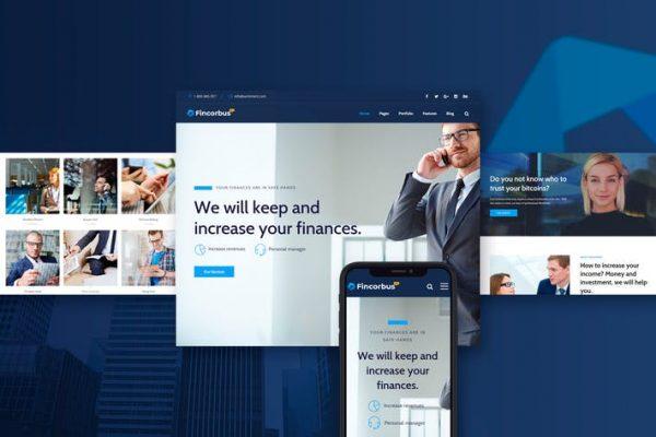 Fincorbus -  Finans Kurumsal WordPress Temasısı