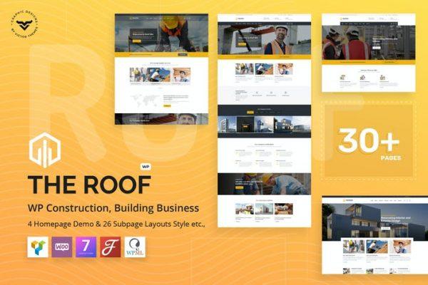 Roof - İnşaat, Bina WordPress Temasısı