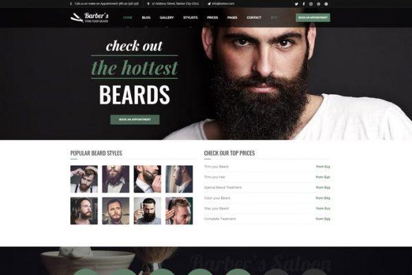 Barber - Berberler ve Kuaför Salonları için WordPress Temasısı