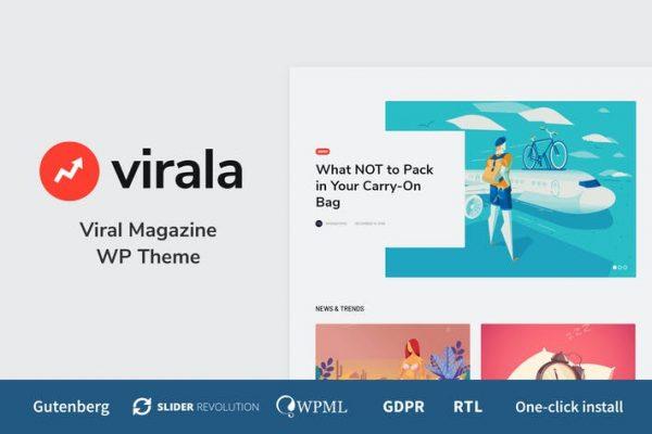 Virala -  Viral Dergisi WordPress Temasısı