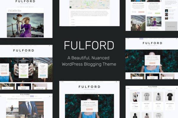 Fulford -  Duyarlı WordPress Bloglama Temasısı