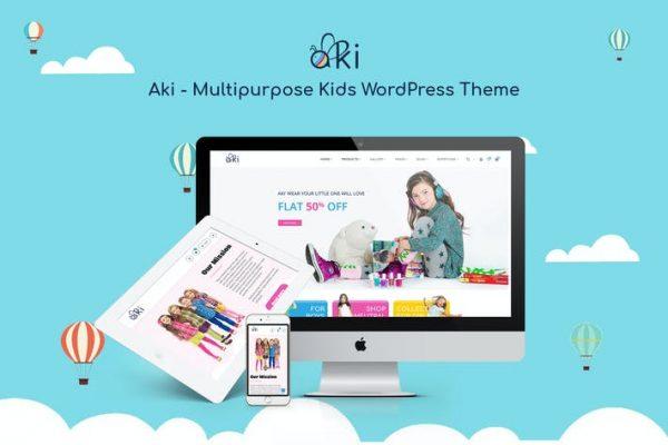 Aki -  Çok Amaçlı Çocuk WordPress Temasısı