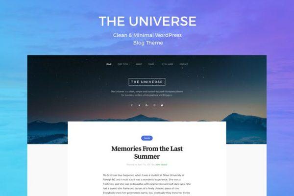 Universe -  Temiz ve Minimal WordPress Blog Temasısı