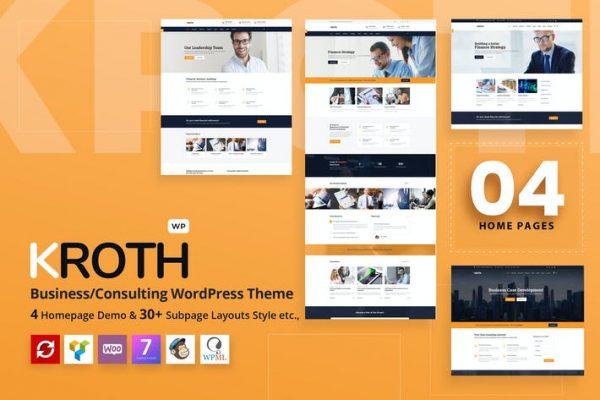 Kroth - İş / Danışmanlık WordPress Temasısı