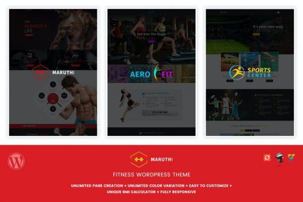 Maruthi Fitness - Fitness Merkezi WordPress Temasısı