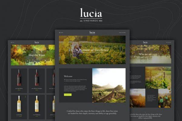 Lucia - Şarap WordPress Temasısı