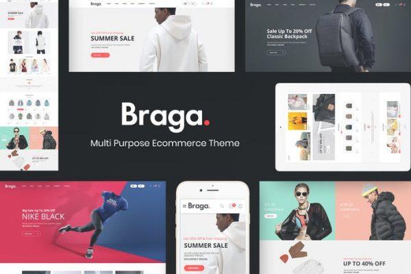 Braga -  WooCommerce WordPress için Moda Temasısı