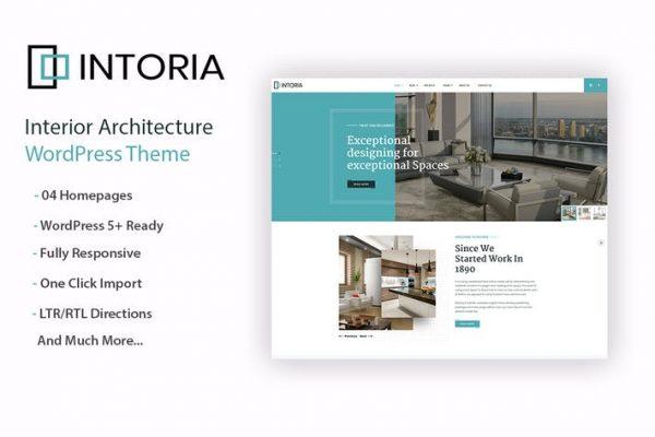 Intoriza - İç Mimarlık WordPress Temasısı