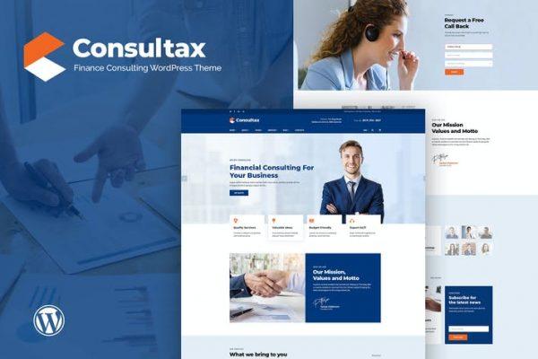 Consultax - Finansal ve Danışmanlık WordPress Temasısı