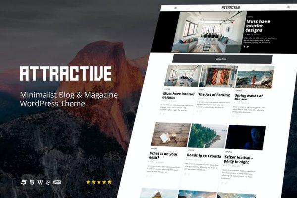 Attractive - Minimalist Blog WordPress Temasısı