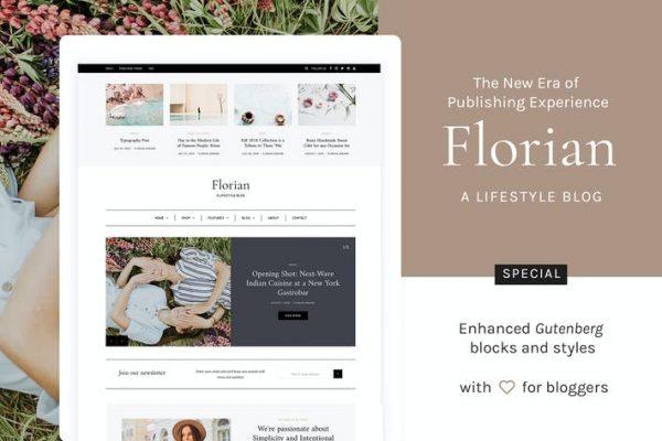 Florian - Duyarlı Kişisel WordPress Blog Temasısı