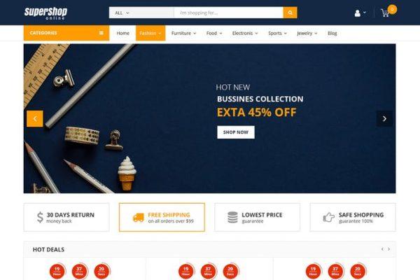 Super Shop -  Market Mağazası RTL Duyarlı WooCommer