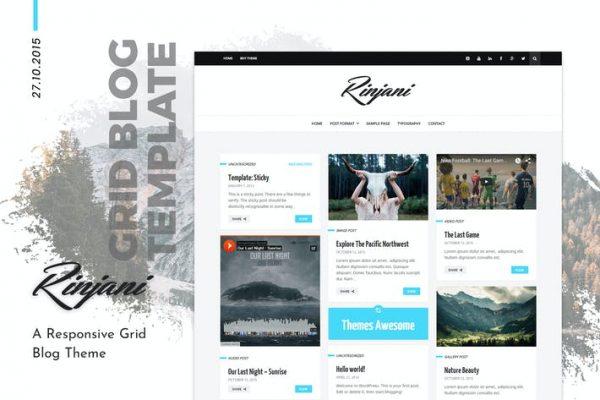 Rinjani -  Kişisel Izgara Blog WordPress Temasısı